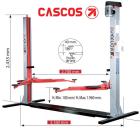 Elevador 2 columnas c-2.3, confort con base 3,5 tn.