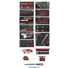 Juego herramientas 11xmÓd. de plÁstico+div. herramientas, 167 piezas