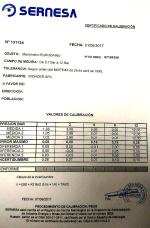 CERTIFICADO DE CALIBRAGEM